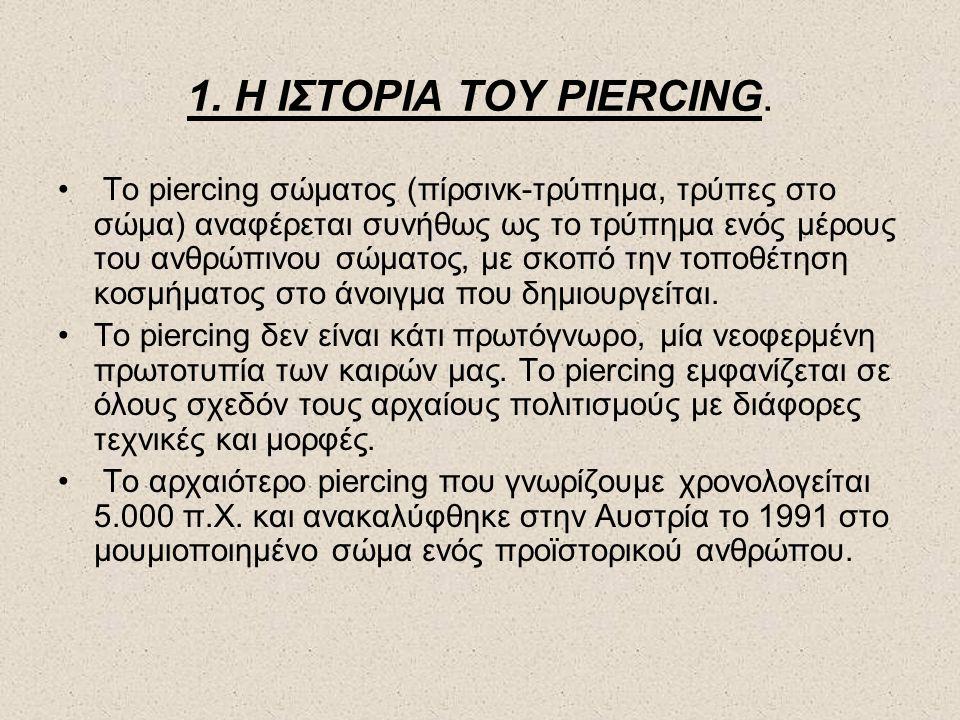 1. Η ΙΣΤΟΡΙΑ ΤΟΥ PIERCΙNG.