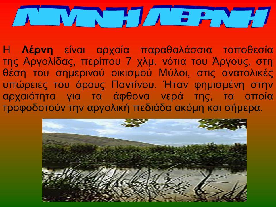 Η Λέρνη είναι αρχαία παραθαλάσσια τοποθεσία της Αργολίδας, περίπου 7 χλμ. νότια του Άργους, στη θέση του σημερινού οικισμού Μύλοι, στις ανατολικές υπώ