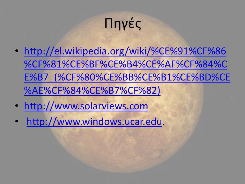 Πηγές http://el.wikipedia.org/wiki/%CE%91%CF%86 %CF%81%CE%BF%CE%B4%CE%AF%CF%84%C E%B7_(%CF%80%CE%BB%CE%B1%CE%BD%CE %AE%CF%84%CE%B7%CF%82) http://el.wi
