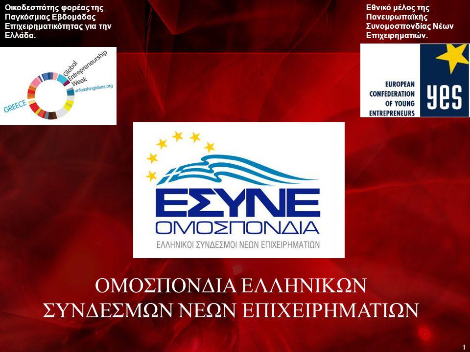 1 Οικοδεσπότης φορέας της Παγκόσμιας Εβδομάδας Επιχειρηματικότητας για την Ελλάδα.