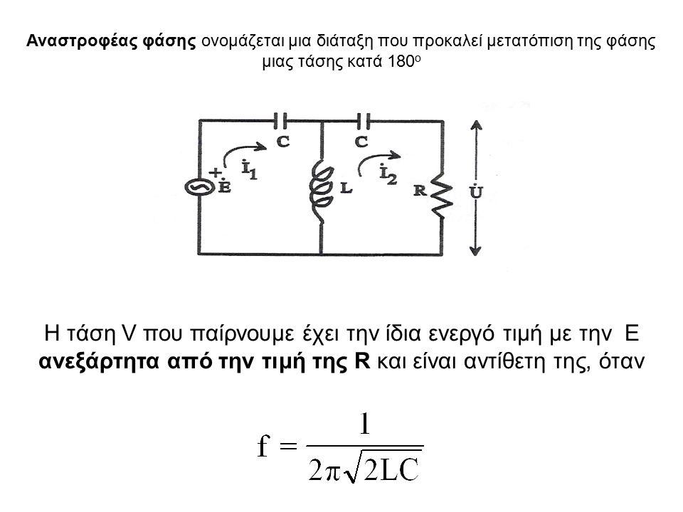 φ0φ0 0 1530 45 60 75 90 105 120 150 Δχ=φ/30 0 [cm] 0 0,5 1 1,5 2 φ/2 0 Rx=10 3 tan(φ/2) Ω Rx (πειραματικά) Ισχύει tan(φ/2)=R x /X c Διαλέγω τέτοια f ώστε Xc=1000Ω (f=1590Hz) R x =10 3 tan(φ/2) R=100Ω, C=0.1 μF Ρυθμίζω το time/cm ώστε Τ/2=6cm Τότε π.χ.