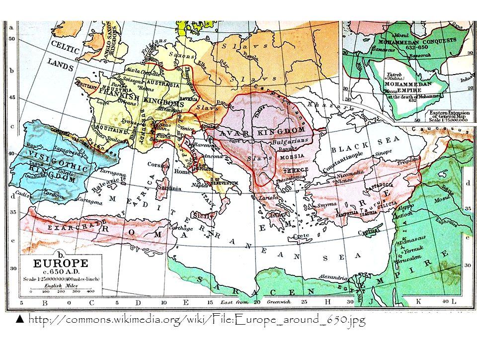 ▲ http://commons.wikimedia.org/wiki/File:Europe_around_650.jpg