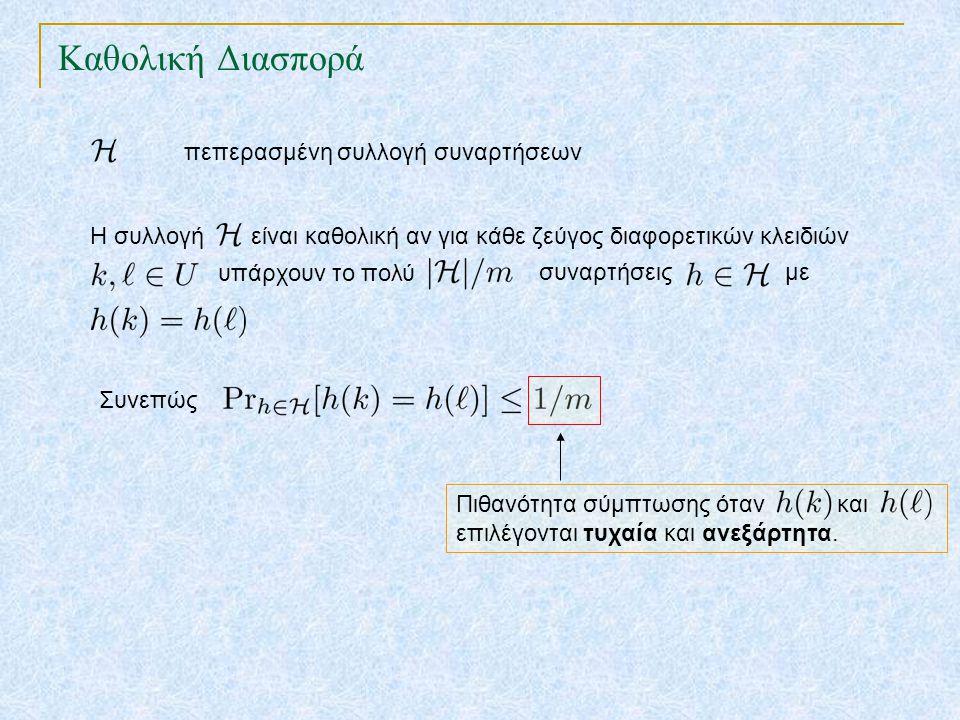 Καθολική Διασπορά TexPoint fonts used in EMF. Read the TexPoint manual before you delete this box.: AA A AA A A πεπερασμένη συλλογή συναρτήσεων Η συλλ