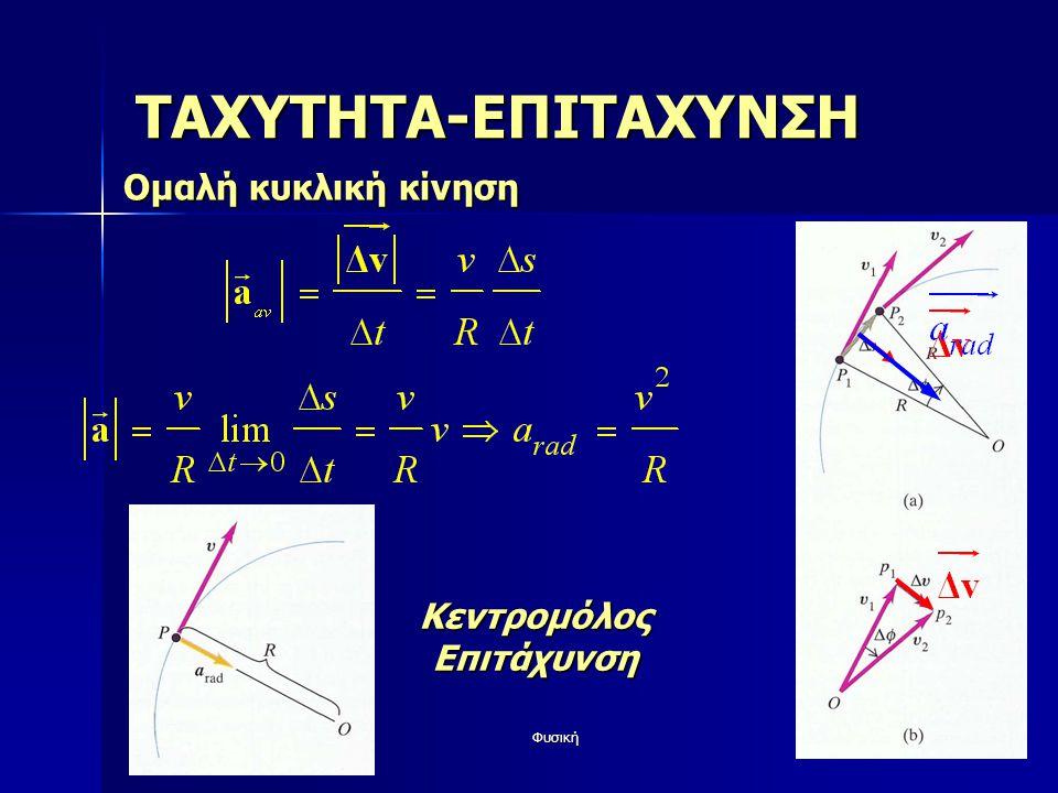 Φυσική58 ΤΑΧΥΤΗΤΑ-ΕΠΙΤΑΧΥΝΣΗ Ομαλή κυκλική κίνηση ΚεντρομόλοςΕπιτάχυνση