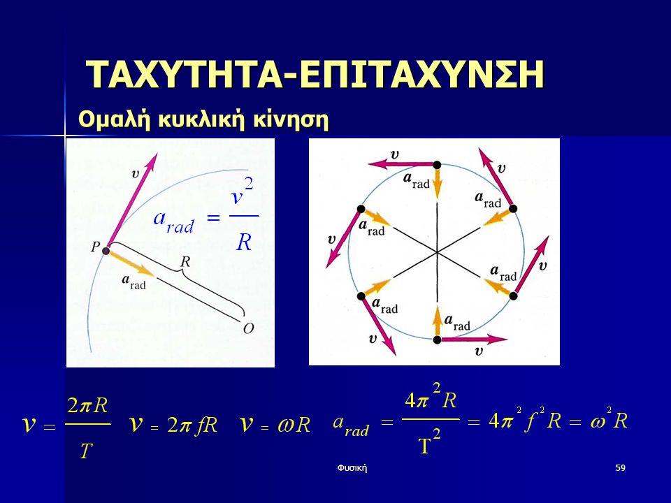 Φυσική59 ΤΑΧΥΤΗΤΑ-ΕΠΙΤΑΧΥΝΣΗ Ομαλή κυκλική κίνηση