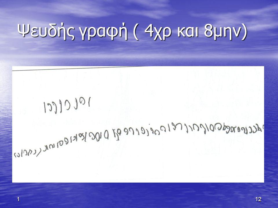 112 Ψευδής γραφή ( 4χρ και 8μην)