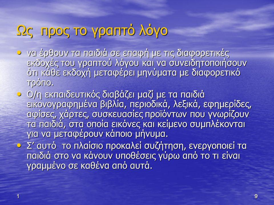 110 Είδη Γραφής 1.Σκαριφήματα: αδέξια πρωτόγονα γραφήματα 2.