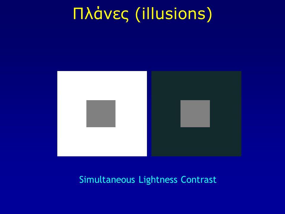 Πλάνες (illusions) Simultaneous Lightness Contrast