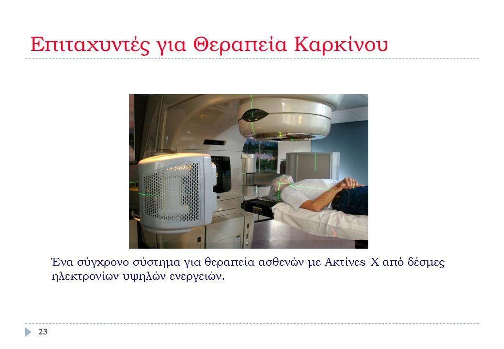Ένα σύγχρονο σύστημα για θεραπεία ασθενών με Ακτίνεs-Χ από δέσμες ηλεκτρονίων υψηλών ενεργειών. Επιταχυντές για Θεραπεία Καρκίνου 23