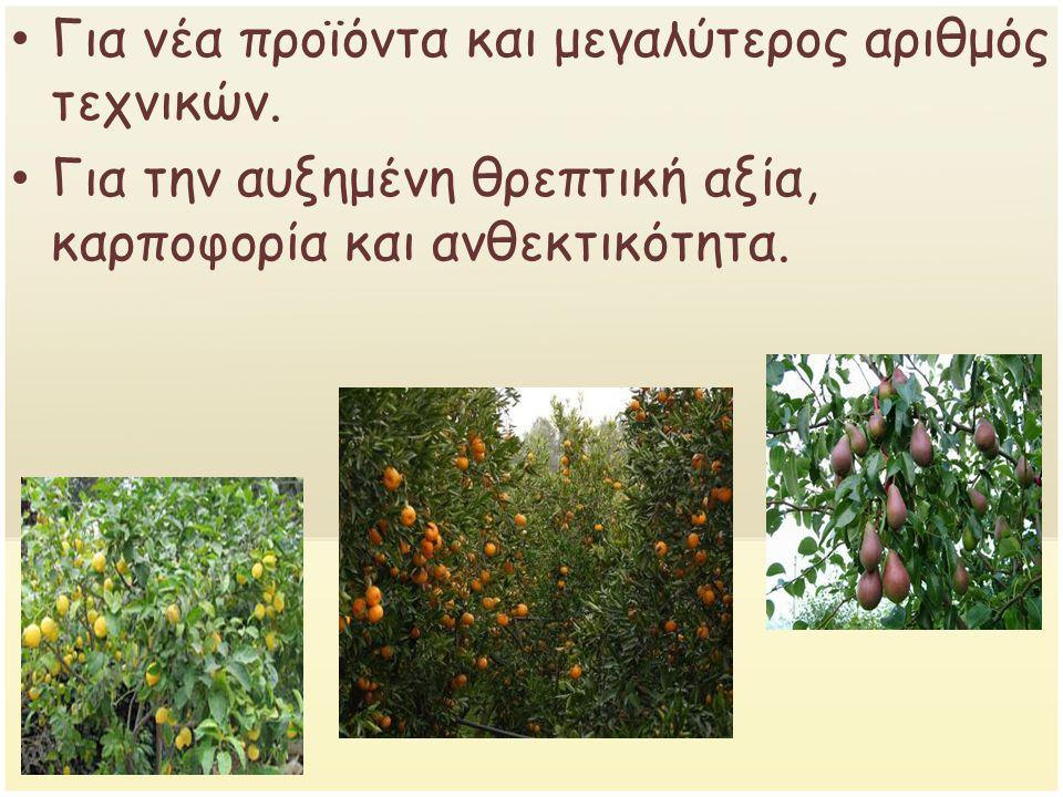 Για την ύπαρξη φιλικών ζιζανιοκτόνων και εντομοκτόνων.