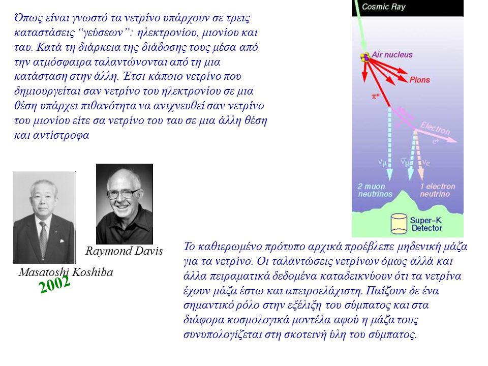 """Όπως είναι γνωστό τα νετρίνο υπάρχουν σε τρεις καταστάσεις """"γεύσεων"""": ηλεκτρονίου, μιονίου και ταυ. Κατά τη διάρκεια της διάδοσης τους μέσα από την ατ"""
