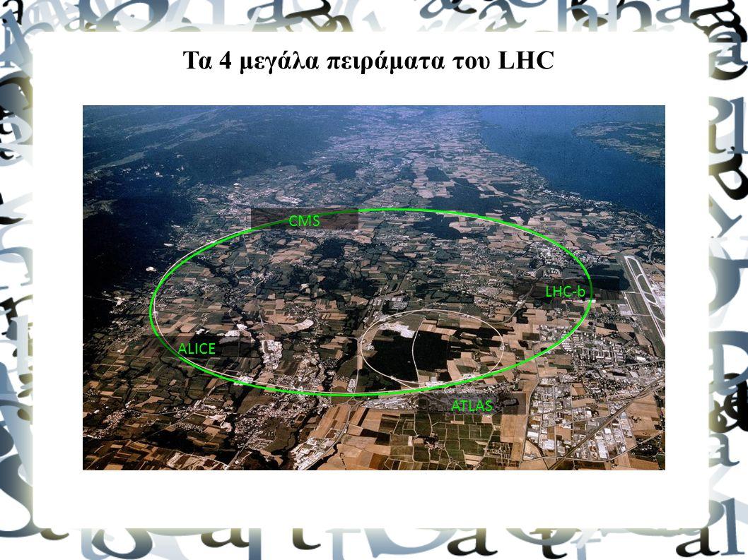 CMS ALICE ATLAS LHC-b Τα 4 μεγάλα πειράματα του LHC