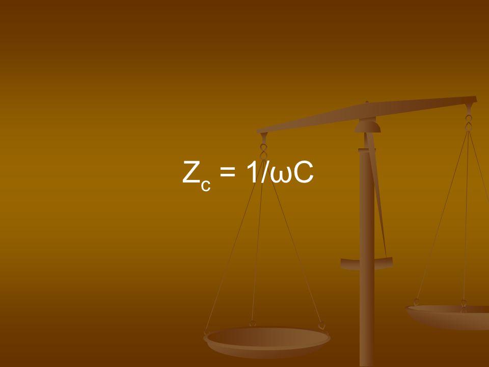 Z c = 1/ωC