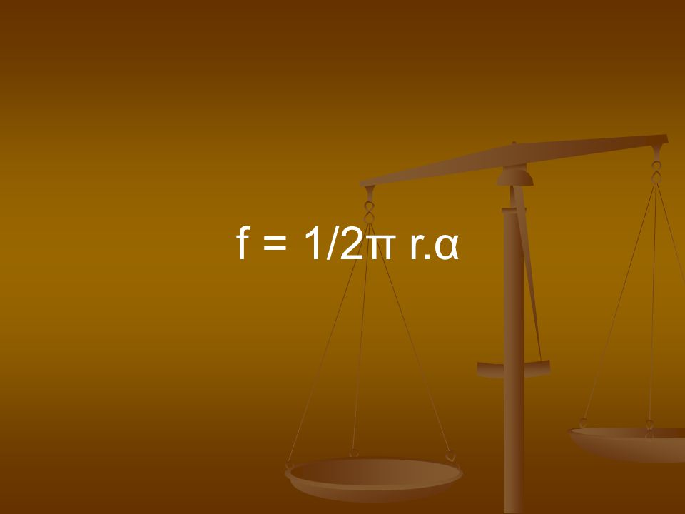 f = 1/2π r.α