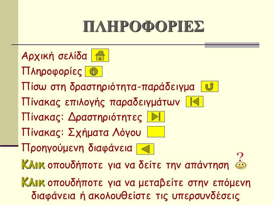 Αντονομασία αντικαθίστανται τα προσηγορικά ονόματα με κύρια ή τα κύρια με προσηγορικά ή τα κύρια και προσηγορικά με άλλες σχετικές λέξεις.