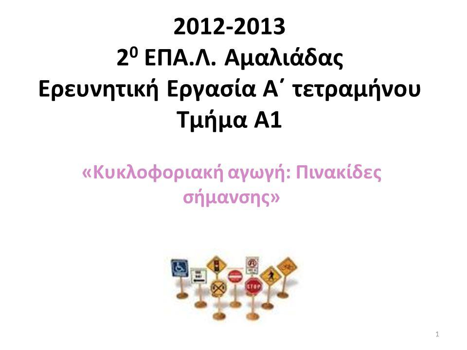 Ρυθμιστικές Πινακίδες Κυκλοφορίας Ι ( Υποχρεωτική παραχώρηση προτεραιότητας) 21