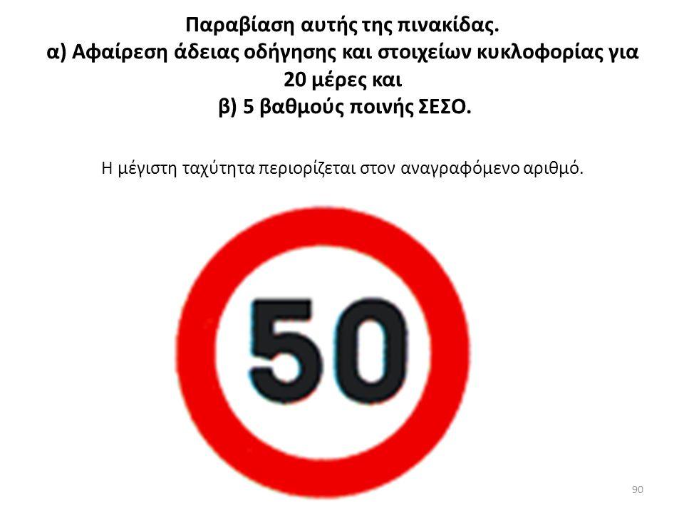 Παραβίαση Χώρος ελεγχόμενης στάθμευσης: Επιβολή προστίμου 20,00 €.