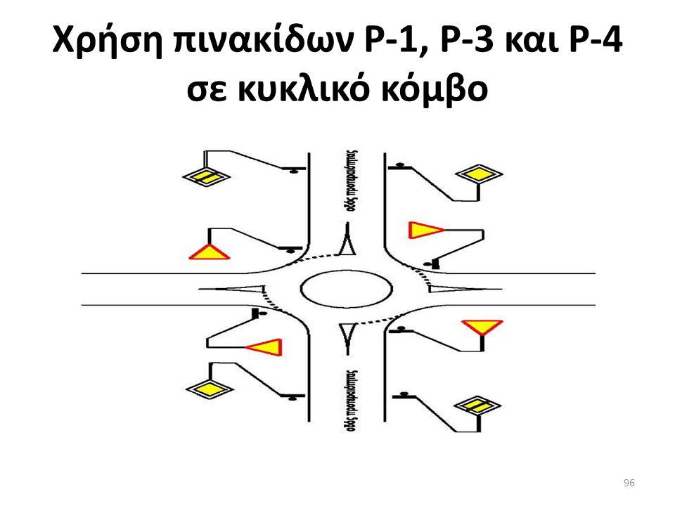 Εφαρμογή πινακίδας Ρ – 1 Υποχρεωτική παραχώρηση προτεραιότητας 95