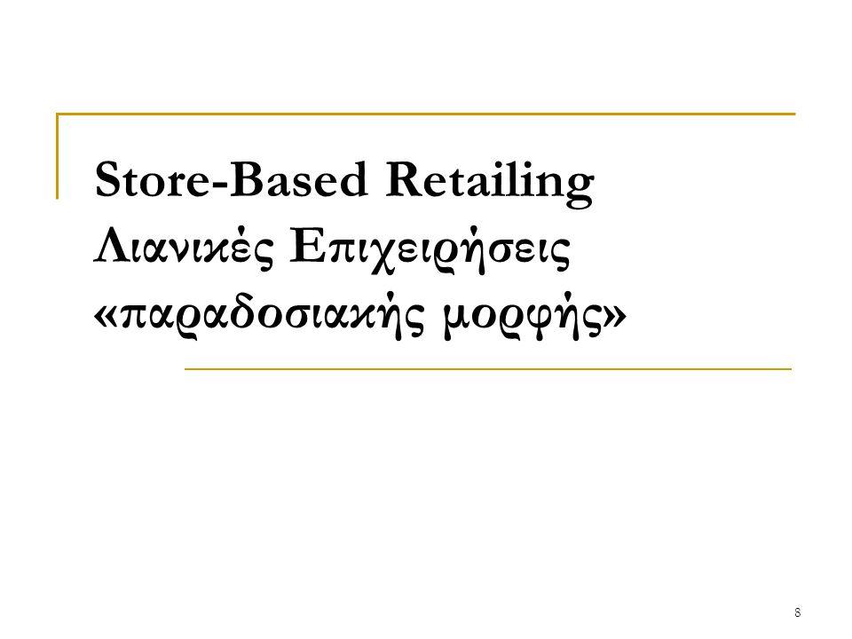 Store-Based Retailing Λιανικές Επιχειρήσεις «παραδοσιακής μορφής» 8
