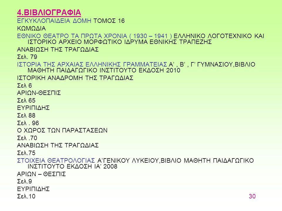 4.ΒΙΒΛΙΟΓΡΑΦΙΑ ΕΓΚΥΚΛΟΠΑΙΔΕΙΑ ΔΟΜΗ ΤΟΜΟΣ 16 ΚΩΜΩΔΙΑ ΕΘΝΙΚΟ ΘΕΑΤΡΟ ΤΑ ΠΡΩΤΑ ΧΡΟΝΙΑ ( 1930 – 1941 ) ΕΛΛΗΝΙΚΟ ΛΟΓΟΤΕΧΝΙΚΟ ΚΑΙ ΙΣΤΟΡΙΚΟ ΑΡΧΕΙΟ ΜΟΡΦΩΤΙΚΟ ΙΔΡΥΜΑ ΕΘΝΙΚΗΣ ΤΡΑΠΕΖΗΣ ΑΝΑΒΙΩΣΗ ΤΗΣ ΤΡΑΓΩΔΙΑΣ Σελ.
