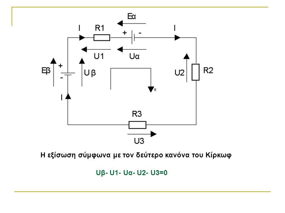 ΑΞΙΟΛΟΓΗΣΗ 1.Να αναφέρεται τον δεύτερο κανόνα του Κίρκωφ και να γράψετε τη σχετική εξίσωση.