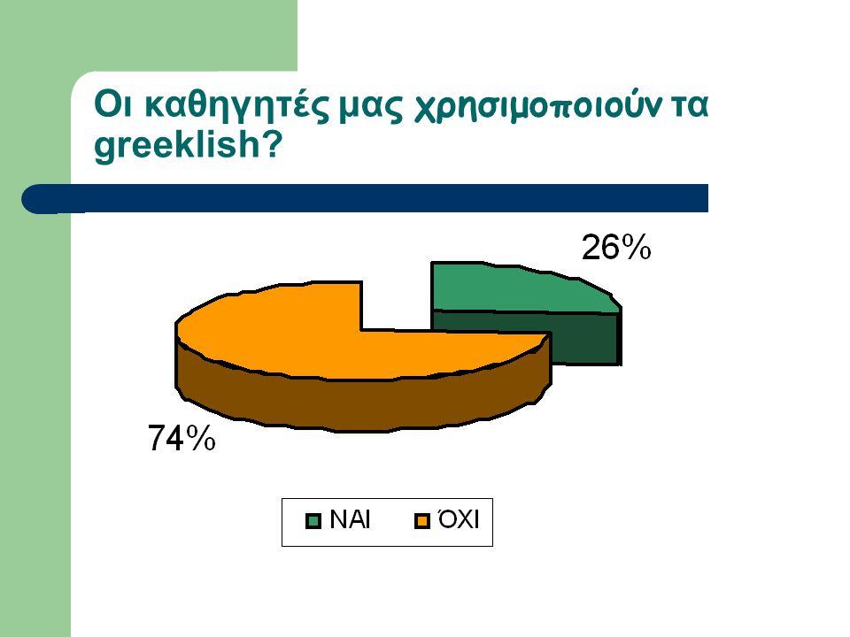 Οι καθηγητές μας χρησιμοποιούν τα greeklish?