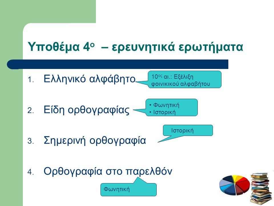 2ο στάδιο: Ερωτηματολόγιο
