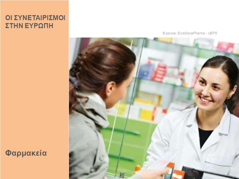 Φαρμακεία © source: EuroSocialPharma - UEPS ΟΙ ΣΥΝΕΤΑΙΡΙΣΜΟΙ ΣΤΗΝ ΕΥΡΩΠΗ