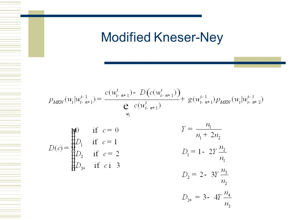 Modified Kneser-Ney