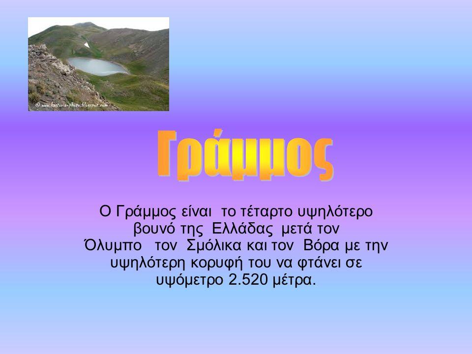 Ο Γράμμος είναι το τέταρτο υψηλότερο βουνό της Ελλάδας μετά τον Όλυμπο τον Σμόλικα και τον Βόρα με την υψηλότερη κορυφή του να φτάνει σε υψόμετρο 2.52