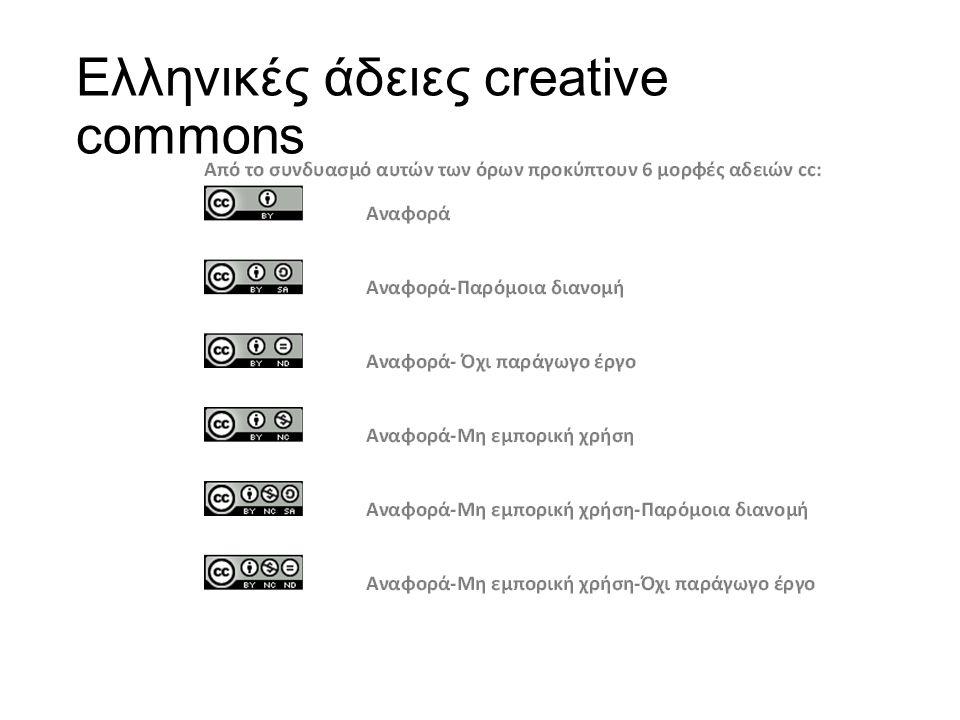 Ελληνικές άδειες creative commons