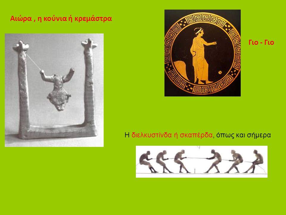 Αιώρα, η κούνια ή κρεμάστρα Γιο - Γιο Η διελκυστίνδα ή σκαπέρδα, όπως και σήμερα