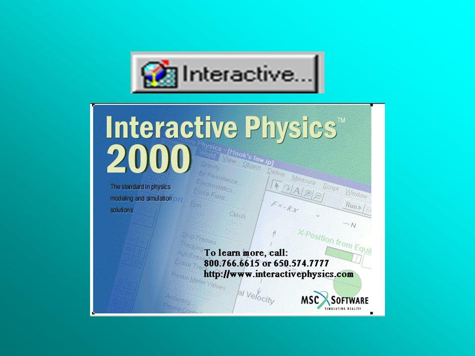Ιnteractive Physics 2000_GR Μέγεθος: 33,1 Mb (130 προσομειώσεις με πλήρη πρόσβαση και 40 μόνο εκτελέσιμες).