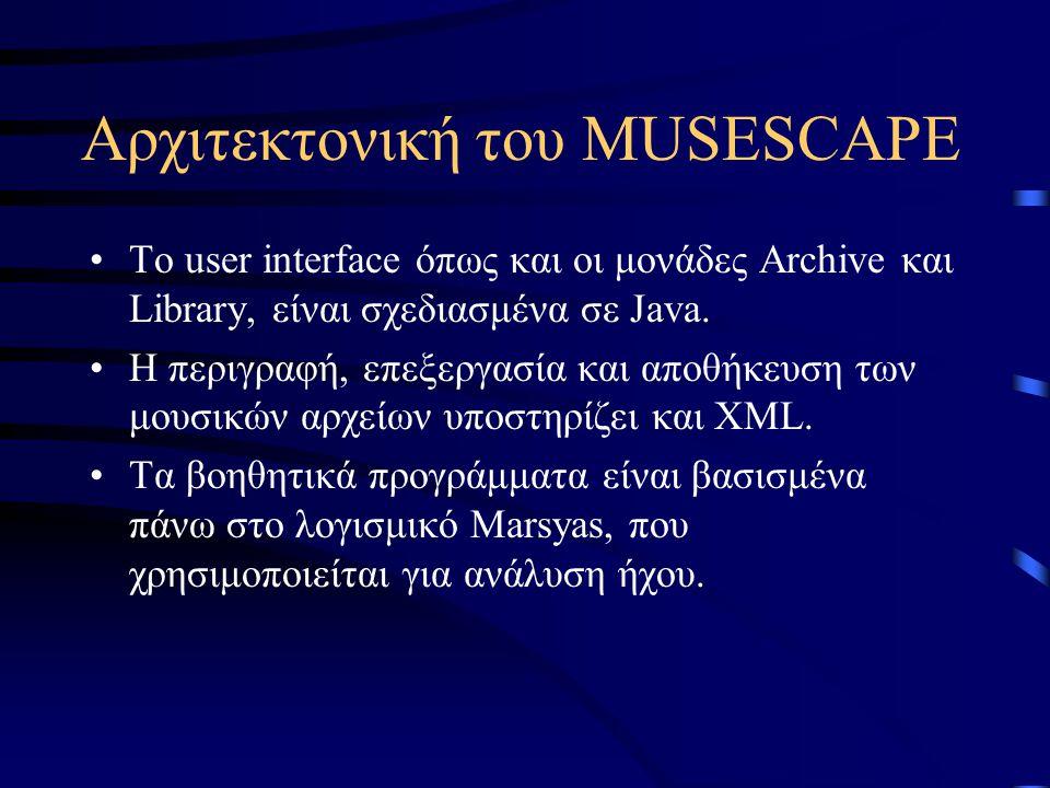 Αρχιτεκτονική του MUSESCAPE