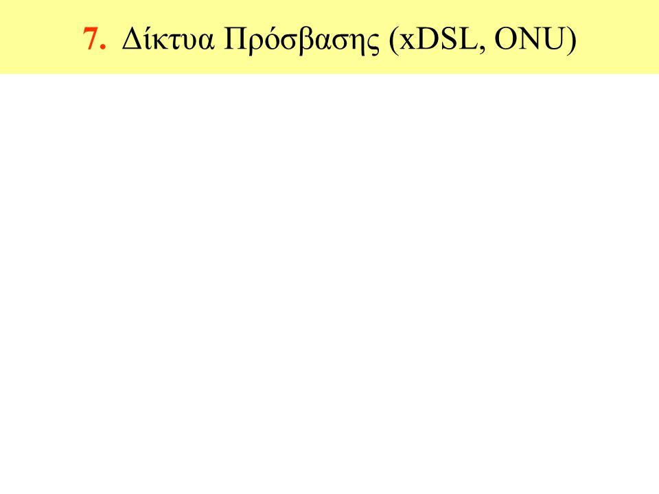 7. Δίκτυα Πρόσβασης (xDSL, ONU)