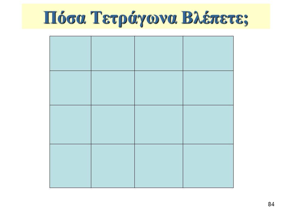 84 Πόσα Τετράγωνα Βλέπετε;