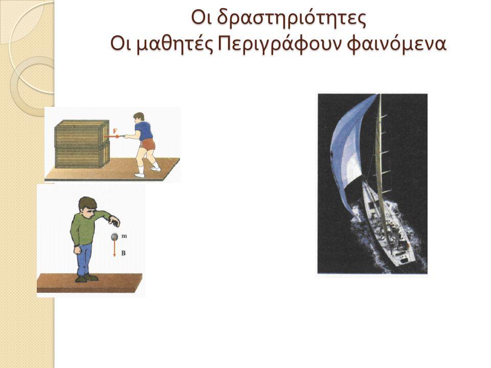 Οι δραστηριότητες Οι μαθητές Περιγράφουν φαινόμενα