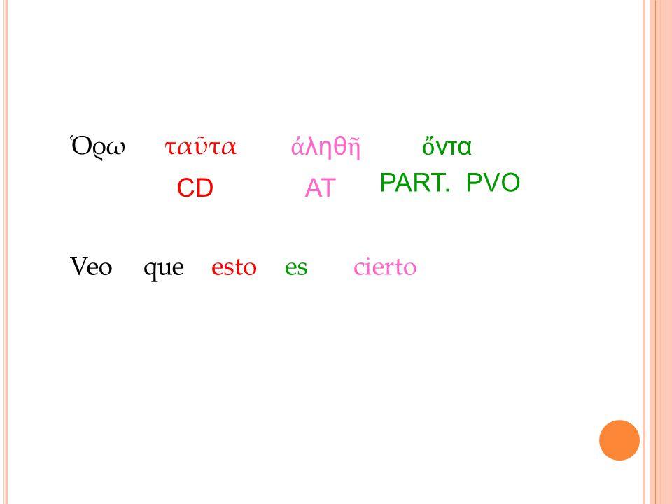 Ὁρωταῦτα ἀ ληθ ῆὄ ντα CD PART. PVO AT Veoqueestoescierto