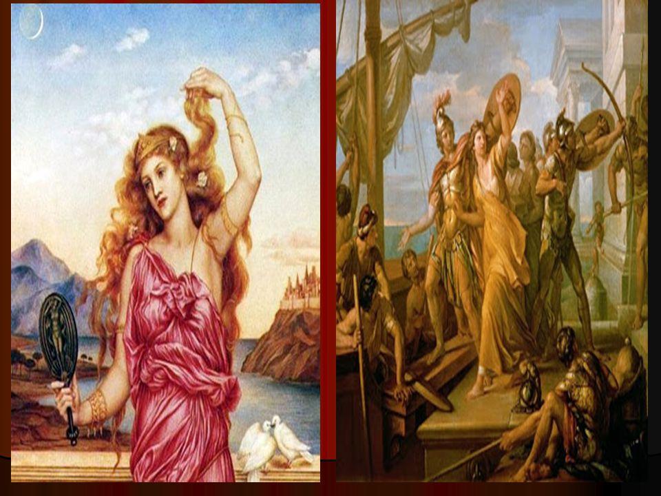Ο ΟΜΗΡΟΣ ΓΙΑ ΤΗΝ ΕΛΕΝΗ Ο Όμηρος στην Ιλιάδα παρουσιάζει την Ελένη ως πλάσμα ανθρώπινο με θεϊκή καταγωγή, αποφεύγει την κατάκριση και την καταδίκη, αλλά την παρουσιάζει συχνά να αυτοκαταδικάζεται μεταχειριζόμενη το επίθετο «κυνώπις» για τον εαυτό της.