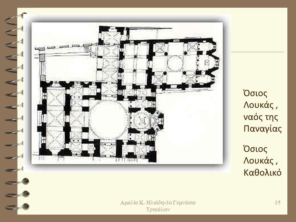 Βυζαντινή αρχιτεκτονική: ρυθμοί Σταυροειδής εγγεγραμμένος: ο τρούλος στηρίζεται στο κέντρο ενός ισοσκελούς σταυρού ο οποίος είναι εγγεγραμμένος σε ένα ορθογώνιο.
