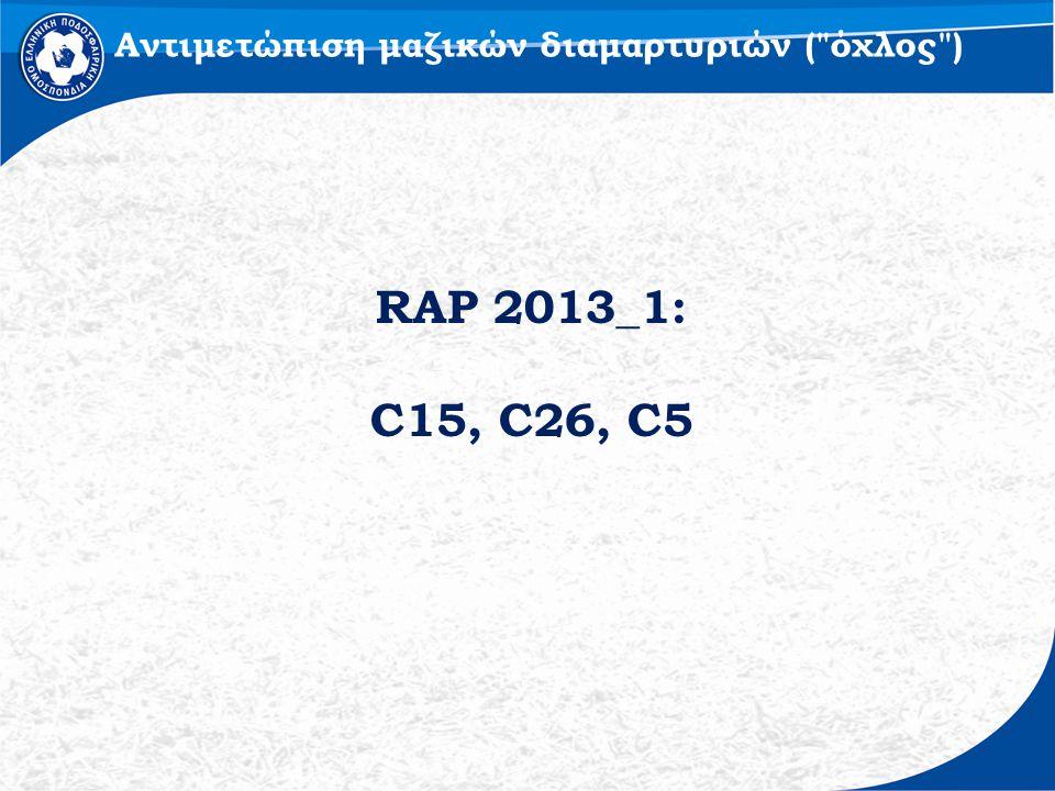 RAP 2013_1: C15, C26, C5 Αντιμετώπιση μαζικών διαμαρτυριών ( όχλος )