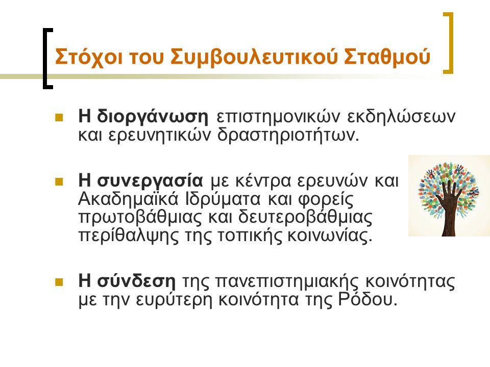 Στέγαση & Στοιχεία Επικοινωνίας Στέγαση: Κτίριο Κάμειρος , Γραφείο Γ11, 3ος όροφος, 25ης Μαρτίου 1, 85100 Ρόδος Στοιχεία Επικοινωνίας:  Τηλέφωνα επικοινωνίας: 22410 99236, & 99234  Ιστοσελίδα: http://www.pre.aegean.gr/councellingcenter/ http://www.pre.aegean.gr/councellingcenter/  Εmail: stathmosrodou@aegean.grtathmosrodou@aegean.gr