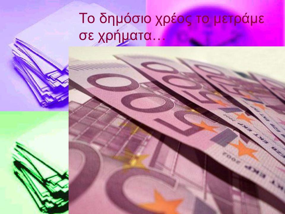 Το δημόσιο χρέος το μετράμε σε χρήματα…