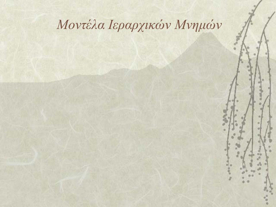 Μοντέλα Ιεραρχικών Μνημών