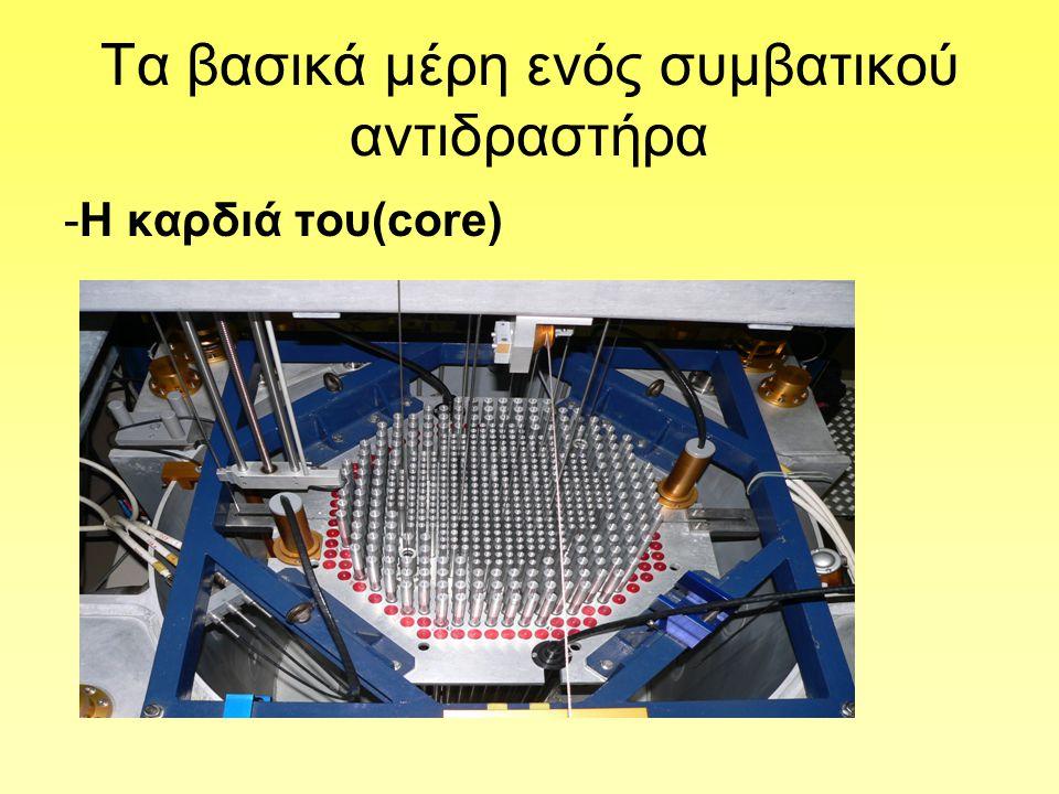 Oι ράβδοι ελέγχου(control rods) -Το πυρηνικό καύσιμο υπερβαίνει κατά πολύ την κρίσιμη μάζα.