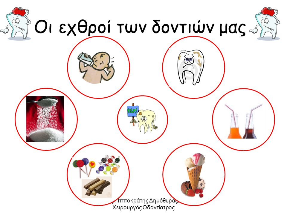 Δρ. Ιπποκράτης Δημόθυρας, Χειρουργός Οδοντίατρος Οι εχθροί των δοντιών μας