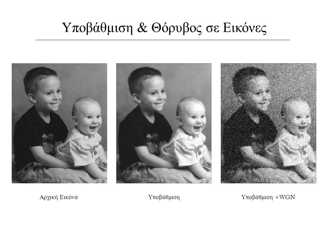 Υποβάθμιση & Θόρυβος σε Εικόνες Αρχική ΕικόναΥ π οβάθμιση +WGN Υ π οβάθμιση