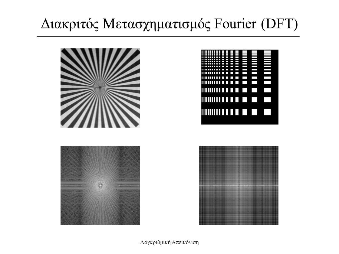 Διακριτός Μετασχηματισμός Fourier (DFT) Λογαριθμική Α π εικόνιση