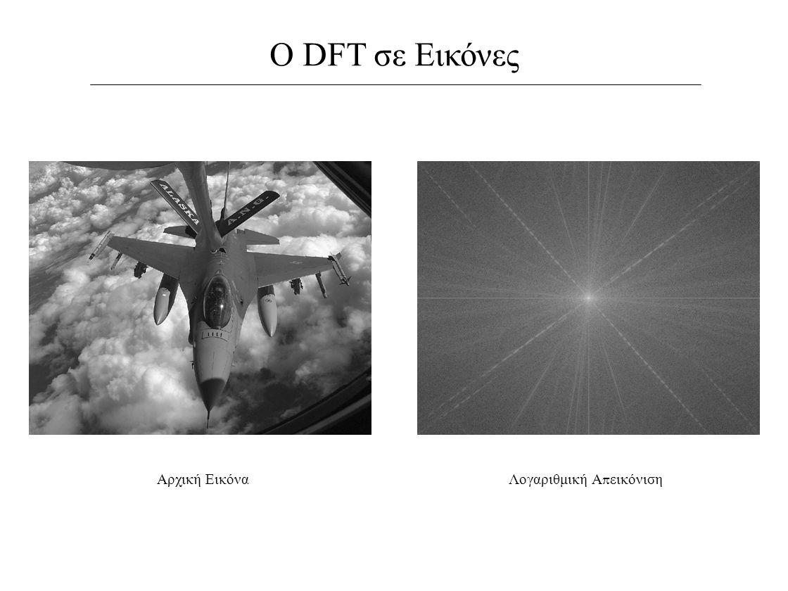 Ο DFT σε Εικόνες Αρχική ΕικόναΛογαριθμική Α π εικόνιση