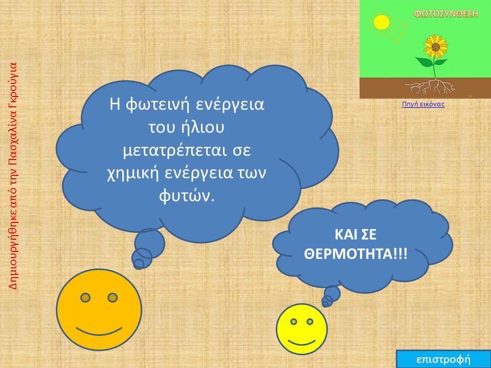 Η ηλεκτρική ενέργεια μετατρέπεται σε φωτεινή ενέργεια της λάμπας. Δημιουργήθηκε από την Πασχαλίνα Γκρούγια επιστροφή ΚΑΙ ΣΕ ΘΕΡΜΟΤΗΤΑ!!! Πηγή εικόνας